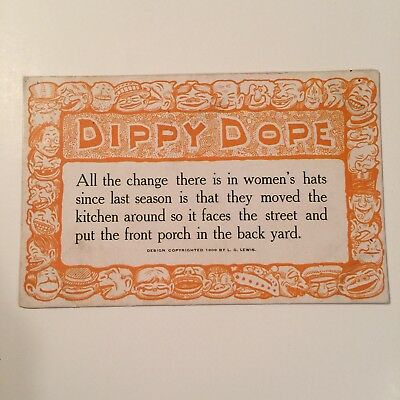 Dippy Dope 1909 By L.g. Lewis Posted To Mary Kelly Postcard
