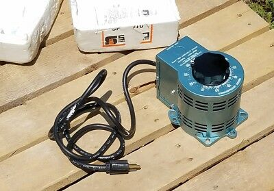 Staco Energy Products Co. Dual Voltage, Dial Adjusted, Variable Autotransformer