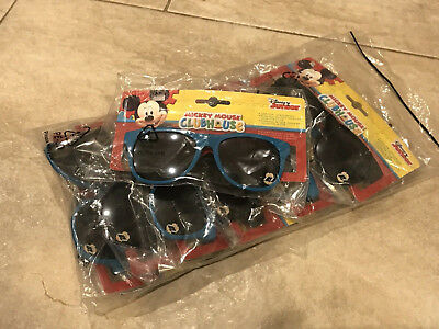 Genuine Disney Mickey Mouse Clubhouse lot of 7 kids sunglasses! 4 blue + 3 black