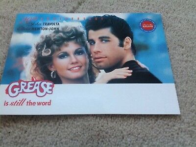 GREASE is still the word POSTCARD -  20th Anniversay