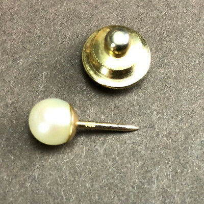 Vintage 14K Yellow Gold 6mm Pearl Stick Pin