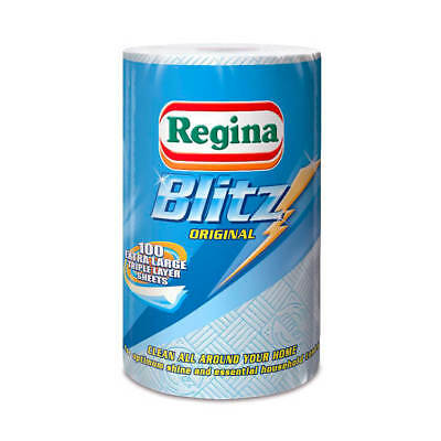 Regina Blitz Kitchen Towel No Smears Recycled Pulp 100 Sheets per Roll White