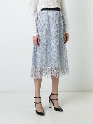 2eee4e2cb4d2e SELF-PORTRAIT FLORAL lace midi skirt UK 4,6,8 - $190.00 | PicClick