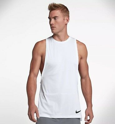 Nike DRY Muscle Tank Training Top White AA4652 XL