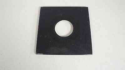 """Unbranded Black Metal Lens Board-Approximately 4 x 4"""" with 1 3/8"""" Lens Opening"""