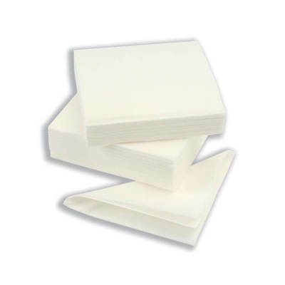 Napkin High Quality Single Ply 400x400mm White Pack 600