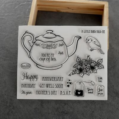 Teapot Photo Album DIY Crafts Transparent Stamp Scrapbooking Silicone Rubber