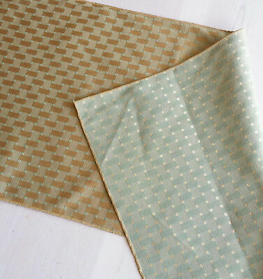Reversible Gold & Green Table Runner - Made in America, Free Shipping