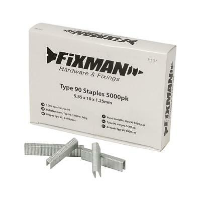 Fixman 715197 Type 90 Staples 5000pk 5.80 x 10 x 1.25mm
