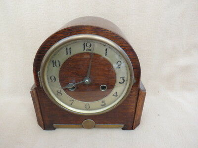 Vintage Haller Art Deco Mantel Clock For Tlc