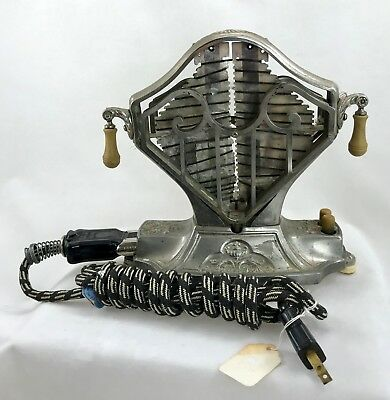 Antique Landers, Frary & Clark Universal Electric Metal Toaster w Cord USA 1920