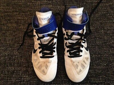 f217eb20b10e NIKE HYPERFUSE WHITE   BLUE HI TOP TRAINERS UK 8.5 scally lads used trainers