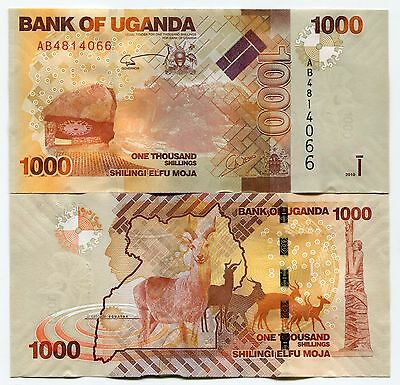 Uganda 2010 P49 1000 Shillings Banknote X 10 Pieces Lot