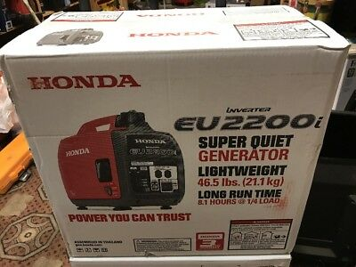 Honda EU2200i 2200-Watt 120-Volt Super Quiet Portable Inverter Generator - NEW!