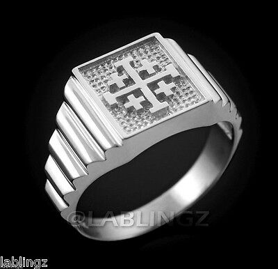 Sterling Silver Jerusalem Crusaders Cross Ring