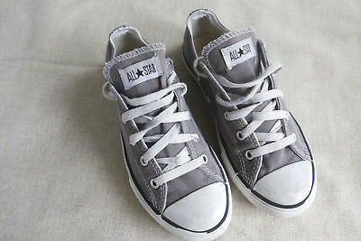 86906349f135bd Kid s Youth Gray Converse All Star Shoes Size 3 Boys Girls Unisex Good Used  Cond