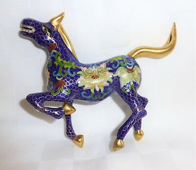 Very ornate Vintage Cloisonné horse
