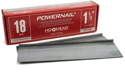 POWERNAIL 1-1/2 In. X 18-Gauge Powercleats Hardwood Flooring Nails (1000-Pack)