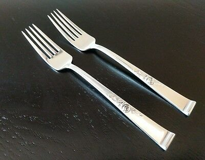 2 ~ Beautiful Vintage Reed & Barton Classic Rose Sterling Silver Dinner Forks