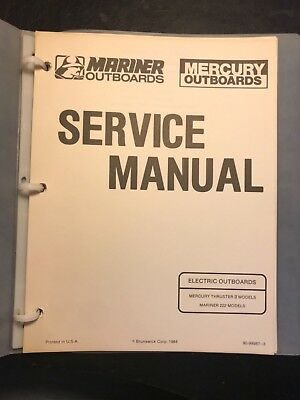 Mercury thruster ii mariner 222 electric outboard motor service mercury thruster ii mariner 222 electric outboard motor service manual 1984 freerunsca Image collections