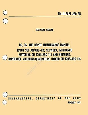 pdf format tm 11 5821 259 35 an arc 114 maintenance repair