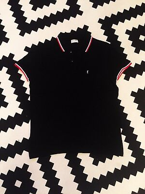 YSL Yves Saint Laurent Men's Black Polo Shirt Size L Good Condition