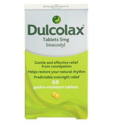 Dulcolax 5mg Gastro-Resistant Tablets - Bisacodyl - Constipation - 60 Tablets*