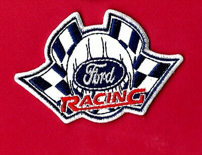 "New Ford Racing 'Flags' 2 X 3"" Inch  Iron on Patch Free Shipping"