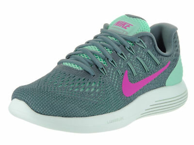 1dfd6d167d36 WOMENS NIKE LUNARGLIDE 8 843726-301 Green Glow Fire Pink Mesh Running Shoes