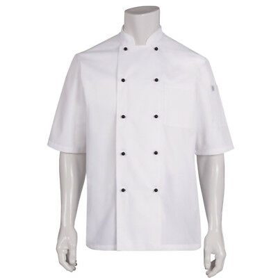 Chef Coat Jacket White Short Sleeve Macquarie Chefworks Hospitality Cook Medium
