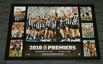 Collingwood Magpies 2010 Afl Premiers Official Superframe Print Pendlebury Swan