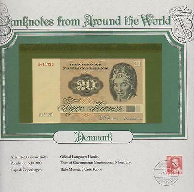 1981 Denmark 20 Kroner Pick 49 Banknotes Around The World 6421736 Unc
