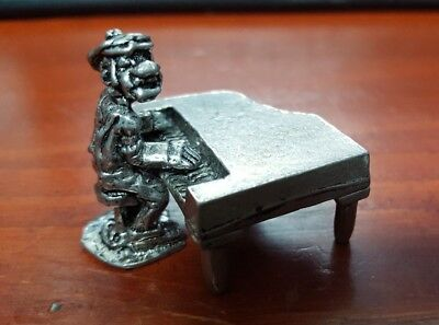 """Boyd Perry """"Piano Man"""" Pewter """"Tonk"""" the Piano Player Miniature 2 pieces 6171"""