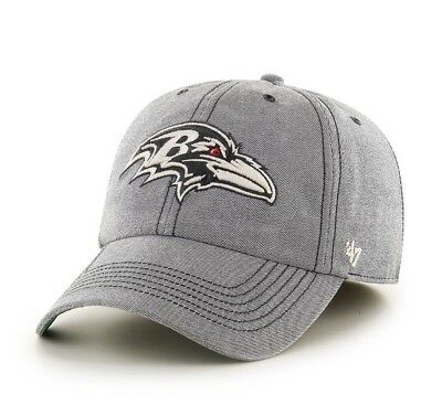 Brand New Baltimore Ravens Colfax Franchise Fitted Hat Cap Gray 47 Brand d1af50c72cca