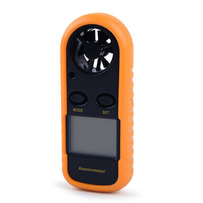 Wind Speed Gauge Digital Anemometer NTC Thermometer LCD Air Velocity Meter