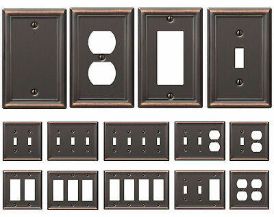 Bronze Wall Switch Plate Toggle Outlet Cover Rocker Duplex Wall plate Covers