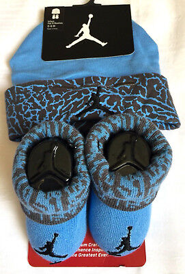 New With Tags Nike Jordan Hat Booties 0-6 Mos
