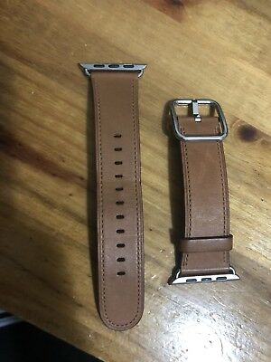 Apple Watch Saddle Brown Classic Buckle Watch Band 42mm