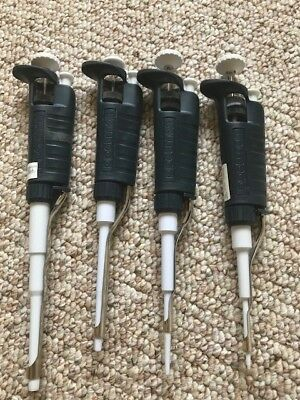 Set of Gilson Pipetman Single Channel Pipet (P2, P20, P200 and P1000)