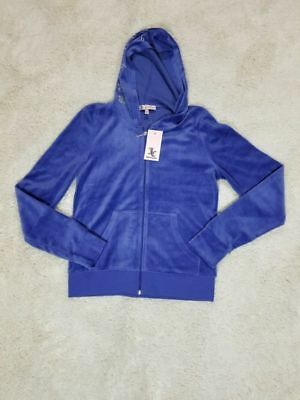 4a85a28b5b5b NWT  168 JUICY COUTURE TRACK VELOUR ROBERTSON CRYSTAL HOODIE JACKET ...