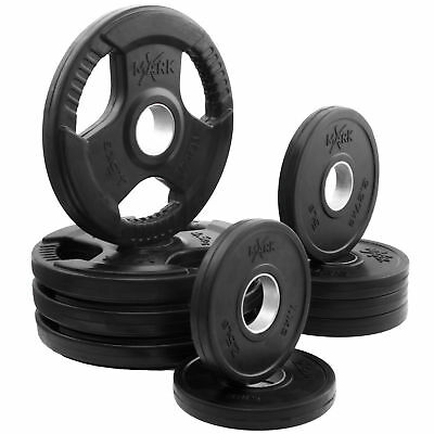 XMark Rubber Coated Tri-grip Olympic Plate Weight Packages XM-3377-BAL-65