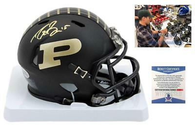 80af3985f55 Drew Brees SIGNED Purdue Boilermakers Mini Helmet - Beckett Autographed w   Photo