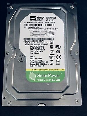 "WD WD5000AVDS 500GB 32MB Cache SATA 3.0Gb/s 3.5"" Hard Drive From TiVo Premiere 4"