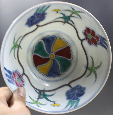 China Ming dynasty Chenghua Hand Painted Blue and white flowers Flowers bowl