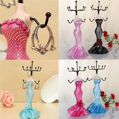 Lady Mannequin Holder Earring Bracelet Necklace Jewelry Display Stand RS