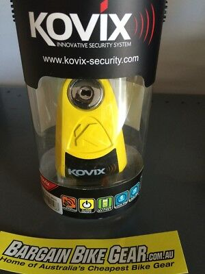 KOVIX Alarm Disc Lock Kal6 -Yellow