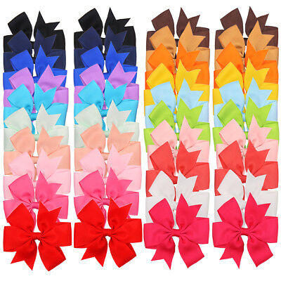 40 Pcs Hair Bow Alligator clips for Baby Girls Kids Ribbon Pinwheel Bows Clips