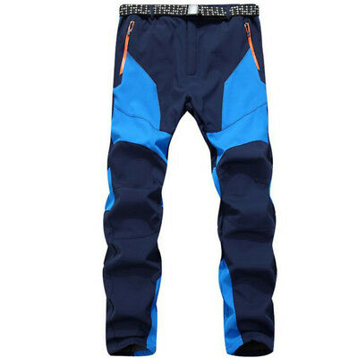 Men Waterproof Leggings Skiing Windproof Thick Warm Softshell Pants Trousers.