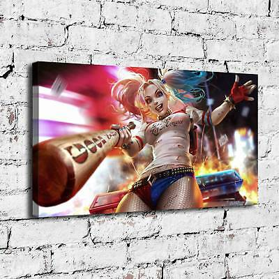 "12""x20""Harley Quinn Amazing Art Painting HD Print on Canvas Home Decor Wall Art"