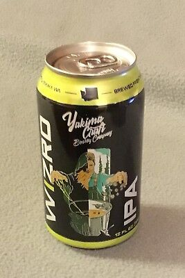 WIZARD IPA -EMPTY 12 ounce ALUMINUM CRAFT BEER CAN -YAKIMA CRAFT BREWING CO.